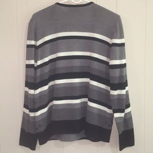 Alfred Dunner Sweaters - Alfred Dunner Embroidered Beaded Striped Sweater